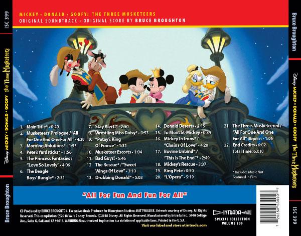 Mickey Donald Goofy The Three Musketeers